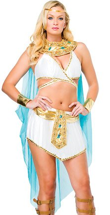 Leg Avenue - Nile Queen Kostüm 3-teilig - 53093, Farbe:Weiss/Gold;Groesse:ML