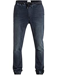 Quiksilver Fonic Blue Black - Pantalon de jogging en denim coupe slim pour Homme