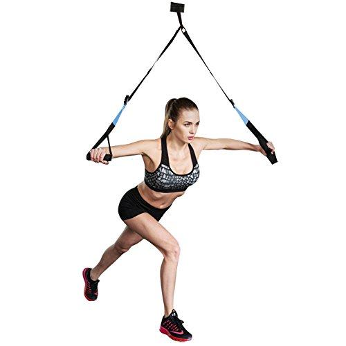 Entrenamiento en Suspensión, Entrenador de Suspensión de Fitness Pro Ejercicio para Fortalecer los Músculos de Todo el Cuerpo Carga Hasta 400 Kg by KEAFOLS