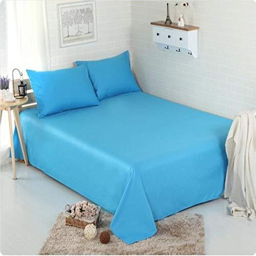 Ljmm888 Sábana De Color Sólido Algodón 1Pcs Funda De Cama Textil para El Hogar Azul B Solo Fundas...