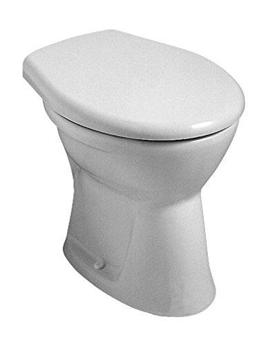 Preisvergleich Produktbild Stand-WC | Flachspüler | Abgang innen senkrecht | Manhattan | Grau | Toilette | Klo | Bad | Gäste-WC | Badezimmer | Keramik