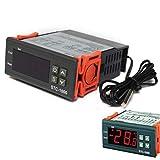 NAttnJf Regolatore di Temperatura Mini termostato per termostato con Display Digitale per acquari con sonda