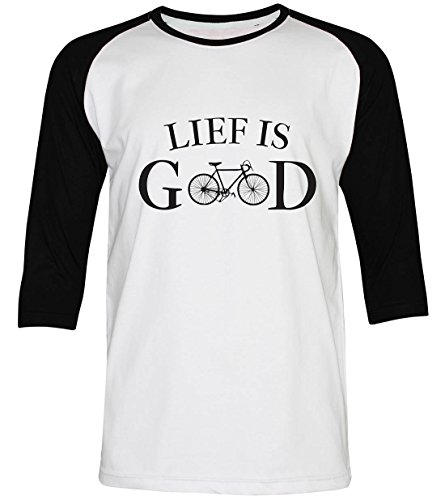 PALLAS Unisex's Bicycle Cycling Life Is Good WhiteBlack 3/4Sleeve