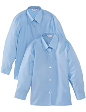 Trutex Limited Mädchen Bluse LS Easy Care, Einfarbig 2er Pack