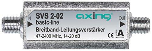 Axing SVS 2-02 - Amplificador de señal para equipos por satélite (20 dB, 47-2200 MHz), plateado