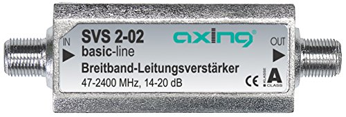 Axing SVS 2-02 Satelliten-Leitungsverstärker Inline Breitband (20 dB, 47 - 2400 MHz) Test