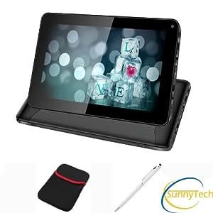 Tablette PC Tactile capacitif 9 pouces, Android 4.2, CPU A20 (Cortex A8) 1.5 GHZ Dual Core, HDD 8 Go, 2 x caméra, Wi fi, Noire - Sunnytech ®