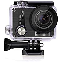 TEEPAO 4K Underwater Action Camera,Grittiness HD Video Camcorder WIFI Remote Control Camera Outdoor Sports Waterproof Digital Video Recorder for Skydiving Deep Dive with Accessories Kit