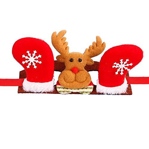 GZQ Kopfbedeckung für Haustiere, Weihnachten, für Cosplay, für Hunde und Katzen, Stirnband, Kopfschmuck, Weihnachten, Party-Dekoration
