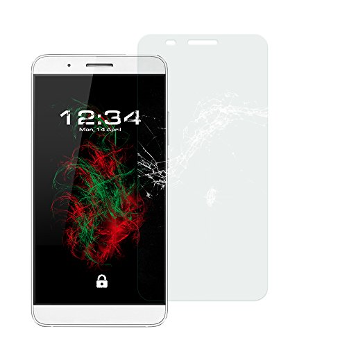 Baluum 1x Glasfolie für Huawei Honor 7i klare Bildschirmschutzfolie 9H Echt Glas-folie Clear Tempered Glass Screen protector Glas Durchsichtige Schutzfolie für Huawei Honor 7i (Glasfolie-Klar 1x)