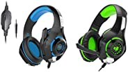 Kotion Each GS410 Headphones with Mic and for PS4, Xbox One, Laptop, PC, iPhone and Android Phones&Cosmic