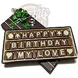Happy Birthday My Love Chocolate Message (22 x 2.5 x 9 cm)