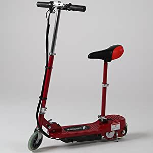 KIDS RED ELECTRIC SCOOTER ESCOOTER 120W RIDE ON BATTERY TOY ADJUSTABLE REMOVABLE SEAT