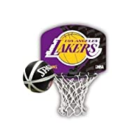 Spalding NBA Team Micro Mini Backboard Set Lakers