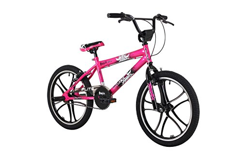 Flite Kid's Mag Panic BMX Bike, 11 inch Frame/20 inch Wheels – Pink