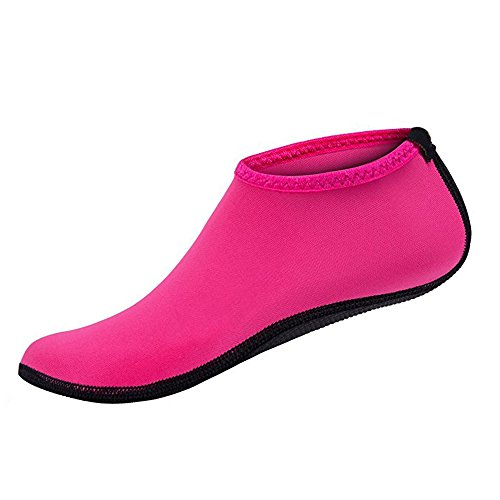 Men Women Quick-Dry Water Skin Shoes Dive Socks For Water Sports Swimming Surfing Yoga Exercice Beach (pink, XL = EU40-41)