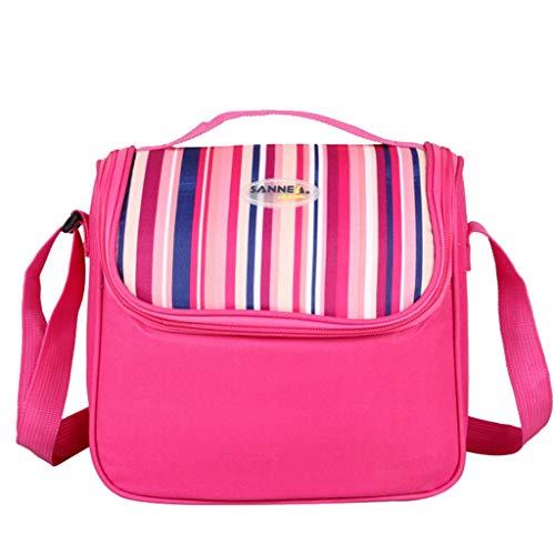 KonJin Picknicktaschen Wasserdicht Leichte Picknicktasche Mittagessen Isoliertasche Thermotasche für Arbeit und Schule 6L 23X14X19cm