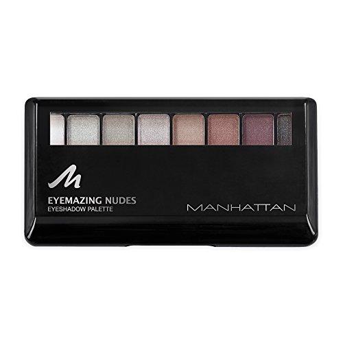 Manhattan Eyemazing Nudes Eyeshadow Palette, Lidschatten, Farbe 200 Shades, 1er Pack (1 x 9 g)