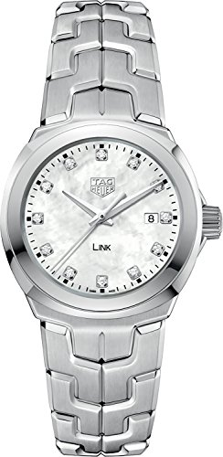 Tag Heuer Link Mother of Pearl Diamond Dial Ladies Watch WBC1312.BA0600