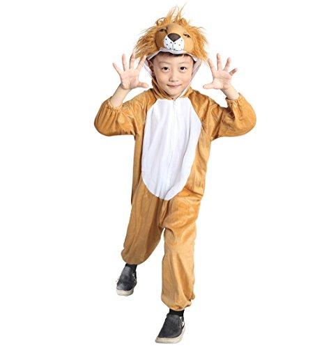 Löwen-Kostüm, An73 Gr. 122-128, für Kinder, Löwe Tier-Kostüme für Fasching Karneval Fasnacht, Kleinkinder-Karnevalskostüme, Kinder-Faschingskostüme, Geburtstags-Geschenk (Kleinkind Löwe Kostüm)
