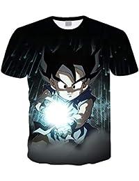 Camiseta Dragon Ball Niño 3D Impresión Hombres Mujer Camisetas y Camisas Unisex Deportivas Camisetas de Manga