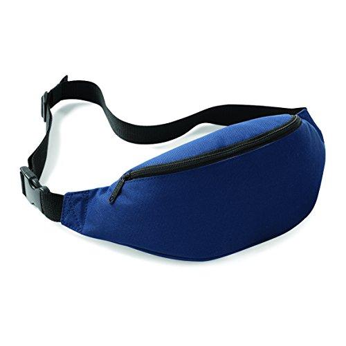 Bauchtasche / Gürtelltasche / Hüfttasche mit rückseitige Tasche in orange frenchnavy