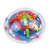 Igemy Labyrinth Ball Kugel Spiel 3D Intellekt Kugel 75 Schwierige Barrieren Labyrinth Zappeln Spielzeug Denksportaufgaben (Mehrfarbig)
