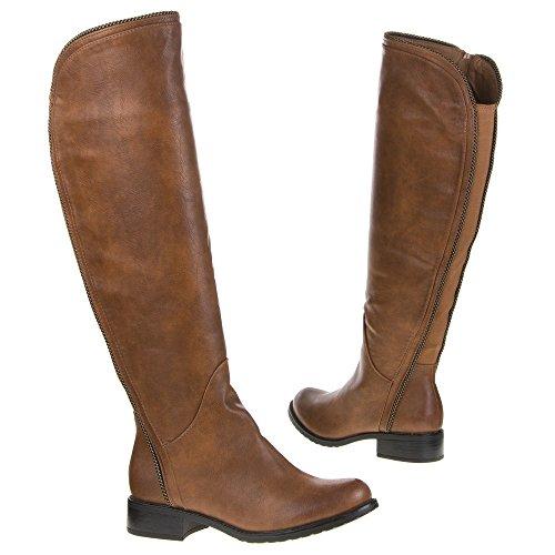 Damen Schuhe, 736, STIEFEL Camel