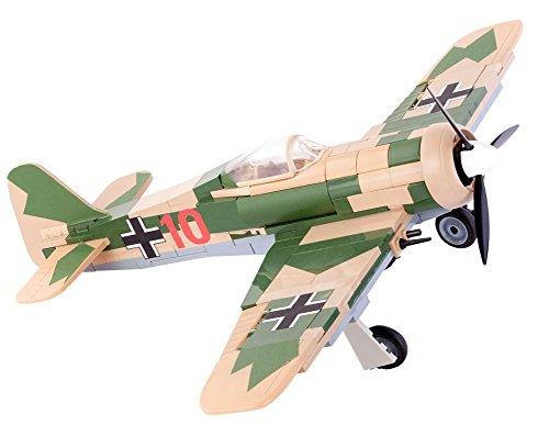 Modbrix 5514 – ✠ Bausteine Focke Wulf FW-190 A-4 Flugzeug inkl. Luftwaffen Pilot aus original Lego® Teilen ✠ - 2