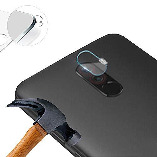 Lusee 2 x Pack Kamera Schutzfolie Linsenschutz für Xiaomi Poco F1 / Pocophone F1 6.18 Zoll Echtglas Tempered Glass Bildschirm Schutz Folie