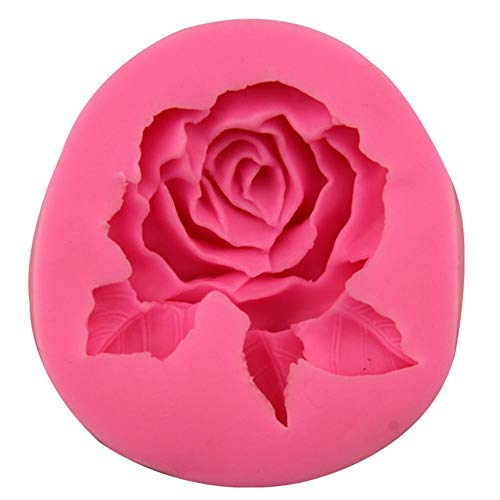 Moldes Artesanales 3D Forma de Rosa Grande Molde de Silicona Blanda Fondant...