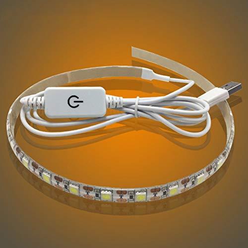 FRJDCDKDKD USB-Nähmaschinen-Beleuchtungsstreifen DC 5 V Dekoration Heimnähmaschine USB Power Industrielle LED-Lichtleiste Aufsteckbare Tragbare Flexible Touching Dimmer Schrank -
