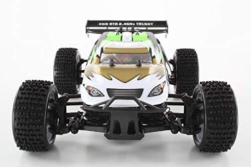 RC Auto kaufen Truggy Bild 5: HSP Truggy Ghost Pro brushless 1:18 4WD Grün 94803Pro/80397 | Fahrspaß auf kleinsten Raum | Fahrfertiges 1:18 RC-Car | 2.4 Ghz Sender | Ladegerät 250mAh (Ladezeit ca. 5 Stunden) | Fahrakku NiMH 7,2V mit 1100 mAh | Allradantrieb mit 5470kv Brushless Motor | Länge ca. 275mm | Breite ca. 170mm | Höhe ca. 100mm | Radstand ca.160mm*