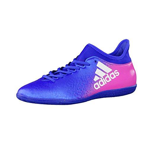 adidas X 16.3 In, Chaussures de Foot Homme Bleu/blanc