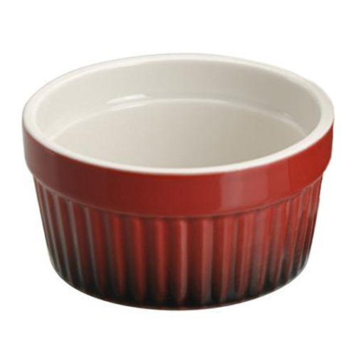Ragoutfin Schale Creme brulee Auflaufschale, Keramik, Ø ca. 9 cm, rot, 1 Stück