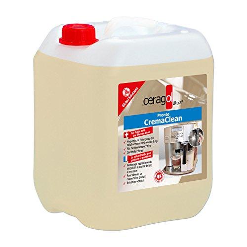 Ceragol Ultra Pronto Crema Clean–Limpiador de sistema de leche, lata de 10L con Cierre originalität