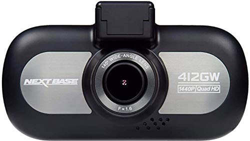 Nextbase 412GW - Full 1440p QUAD HD In-Car Dash Camera DVR - 140° Viewing Angle - WiFi and GPS - Black