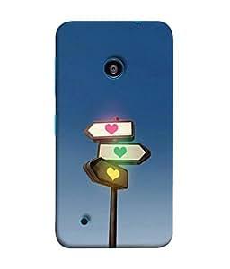 FUSON Designer Back Case Cover for Nokia Lumia 530 :: Nokia Lumia 530 RM 1017 :: Nokia Lumia 530 Dual SIM :: Microsoft Lumia 530 Dual (Traffic lights love flsh Bright Shine)