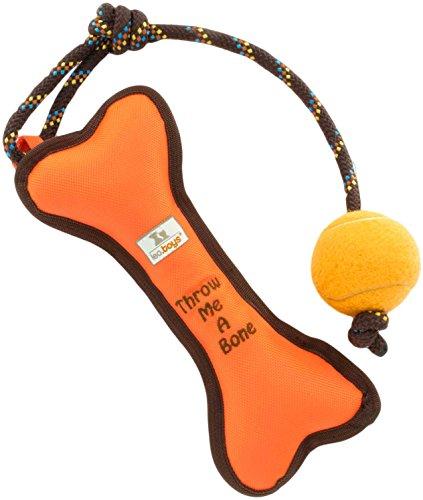 leo.toys Hundespielzeug zum Werfen und Zerren aus robustem Nylongewebe, schwimmfähig