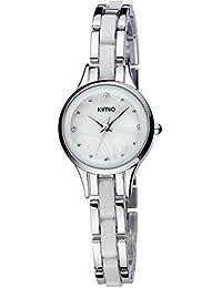 ufengke® art und weise populäre elegante schönes armband handgelenk armbanduhren für frauen damen mädchen-silber weiß