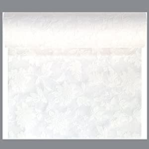 Duni Chemin de table, blanc, 0,45 x 24 m