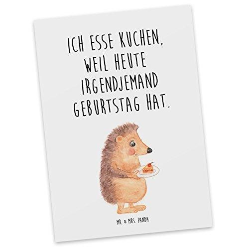 Mr. & Mrs. Panda Postkarte Igel mit Kuchenstück - 100% handmade & handbedruckt - Igel, Kuchen, Geburtstag, Postkarte, Postkarten, Einladungskarte, Geschenkkarte, Brief, Kärtchen, Geschenk, Karte, Papier, Einladung Igel, Kuchen, Geburtstag,