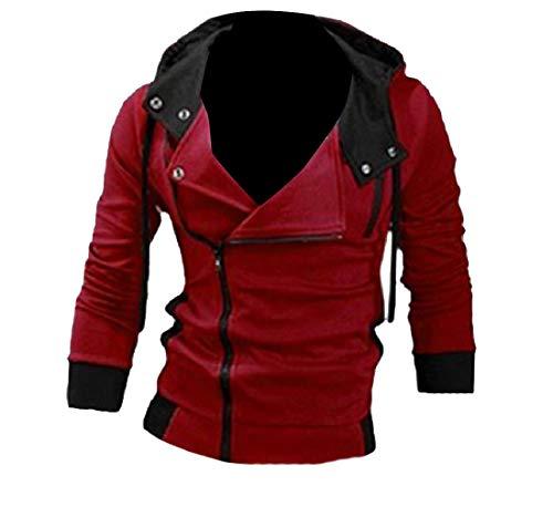 CuteRose Men Oversized Sweatshirts Hoodie Fall Winter Parka Jackets Coat AS1 3XL (Disney Zip-up Hoodie)