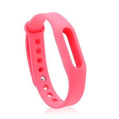 Heartly Wrist Strap Band Belt Wristband Silicone Wearable Case Cover For Xiaomi Mi Band - Cute Pink (Not For Mi Band 2)  available at amazon for Rs.179