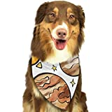 Rghkjlp Galaxy Planet Pet Bandana Washable Reversible Triangle Bibs Scarf - Kerchief for Small/Medium/Large Dogs & Cats