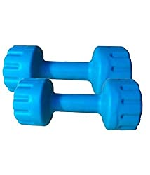 Body Maxx Pvc Colored 1 Pair pvc dumbells Sets- 4 Kg