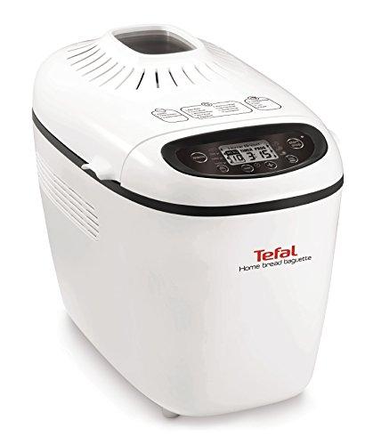 Tefal PF610138 1600W Color blanco - Panificadora (Color blanco, 1,5 kg, Masa de baguette, Pastel de masa, 750 g, 1600 W)