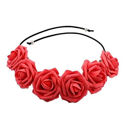 Kalechstein Damen Haarschmuck Fashion Party Kranz Halloween Kopfbedeckung Schaum Rose Stirnband I