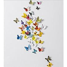 Frlife | 3D Wall Paper- 3D mariposa papel de pared, decoración interior, 38 mariposas un paquete