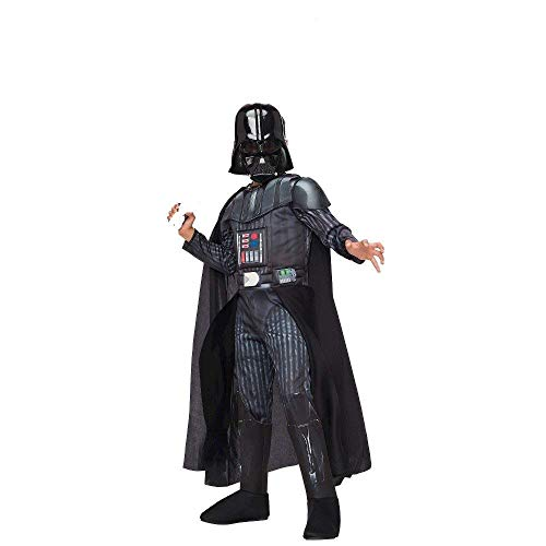 Star Wars Darth Vader Kinder Jungen Fasching Halloween Karneval Kostüm 104-116 ()